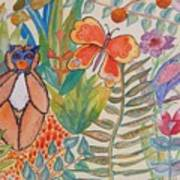 Jungle Scene With Monkey Poster