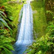 Jungle Waterfall Poster