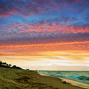 Juno Beach Florida Sunrise Seascape D7 Poster