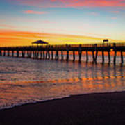Juno Pier Colorful Sunrise Panoramic Poster