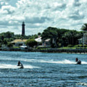 Jupiter Inlet And Lighthouse Poster