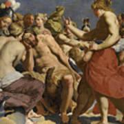 Jupiter Rebuked By Venus On Mount Olympus  Poster