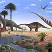 Jurassic Dinosaurs, Artwork Poster