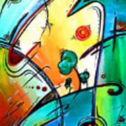 Just Having Fun Original Pop Art Abstract Painting By Madart Poster