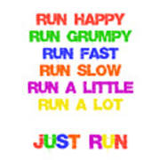 Just Run Poster