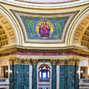 Justice Mural - Capitol - Madison - Wisconsin Poster