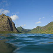 Kaaawa Valley From Ocean Poster