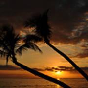Ka'anapali Beach Sunset Poster