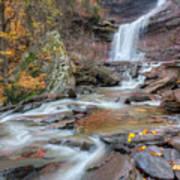 Kaaterskill Falls Autumn Portrait Poster