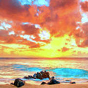 Kailua-kona Sunset Poster