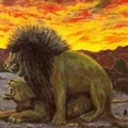 Kalahari Sunset Poster