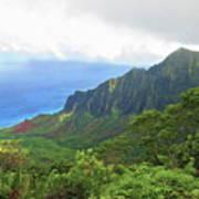 Kalalau Trail Overlook Poster