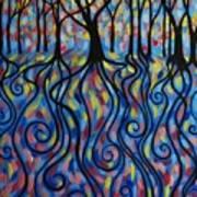 Kaleidoscope Forest Poster