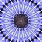 Kaliedoscope Purples Poster