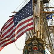 Kalmar Nyckel American Flag Poster