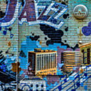 Kansas City Jazz Mural Poster