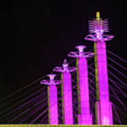 Kansas City Pylons In Pink Poster