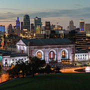 Kansas City Summer Sunset Poster