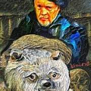 Kaptain Van Janned And His Trusty Bear Vincent Poster