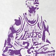 Kareem Abdul Jabbar Los Angeles Lakers Pixel Art Poster
