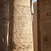 Karnak Pillar Carvings Poster