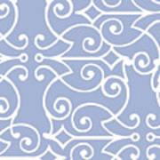 Kasbah Blue Arabesque Poster