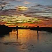 Katy Bridge Watercolor Effect Poster