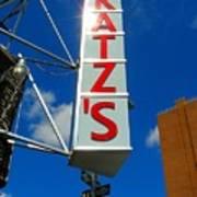 Katz's Ny Deli Sign Poster