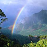 Kauai Rainbow Poster