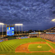 Kauffman Stadium Twilight Poster