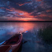 Kayak Sunrise Poster