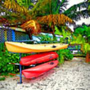 Kayaks In Paradise Poster