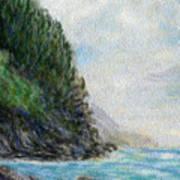 Ke'e Rocks Poster