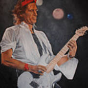 Keith Richards Live Poster