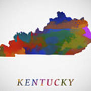 Kentucky Map Poster