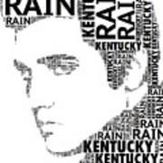 Kentucky Rain Elvis Wordart Poster