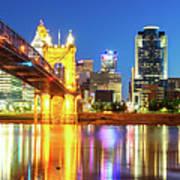 Kentucky View Of The Cincinnati Ohio Skyline - Panorama Poster