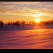 Kentucky Winter Sunrise Poster
