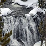 Firehole Falls Yellowstone Poster