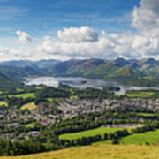 Keswick And Derwent Water View From Latrigg Poster
