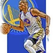 Kevin Durant Golden State Warriors Oil Art Poster