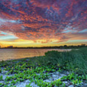 Key Biscayne Sunset Poster