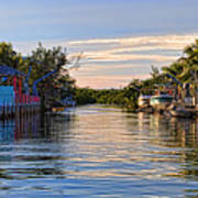 Key Largo Canal Poster