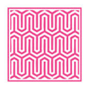 Key Maze With Border In French Pink Poster