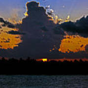 Key West Sunset Glory Poster
