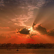 Key West Sunset Panoramic Poster