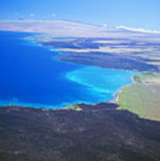 Kiholo Bay, Aerial View Poster
