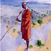 Kikuyu In A Red Cloak Poster