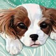 Spaniel Puppy Resting Poster
