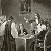 King James II Of England Facing Bishops Poster